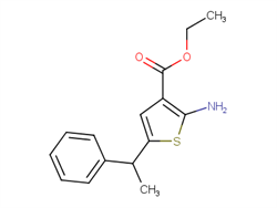 ethyl 2-amino-5-(1-phenylethyl)thiophene-3-carboxylate 884497-37-4 1C57898 MFCD03419890