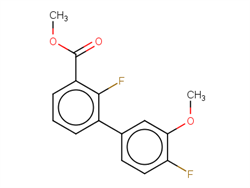 Methyl 2-fluoro-3-(4-fluoro-3-methoxyphenyl)benzoate 1381944-46-2 1C58413 MFCD22375058