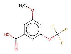 3-Methoxy-5-(trifluoromethoxy)benzoic acid 1261442-97-0 1C58424 MFCD18398450