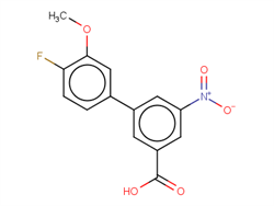 4'-fluoro-3'-methoxy-5-nitro-[1,1'-biphenyl]-3-carboxylic acid 1261967-46-7 1C58426 MFCD18320685