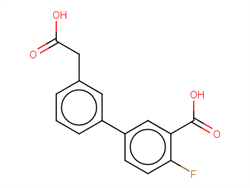 5-[3-(Carboxymethyl)phenyl]-2-fluorobenzoic acid 1375068-82-8 1C58596 MFCD22205805