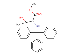 methyl 3-hydroxy-2-[(triphenylmethyl)amino]butanoate  2C91418 MFCD08517754