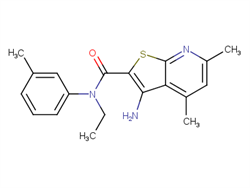 3-amino-N-ethyl-4,6-dimethyl-N-(3-methylphenyl)thieno[2,3-b]pyridine-2-carboxamide  2C92506 MFCD06642366