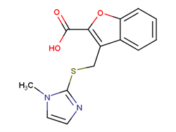 3-{[(1-methyl-1H-imidazol-2-yl)sulfanyl]methyl}-1-benzofuran-2-carboxylic acid 1039820-41-1 2C92521 MFCD13378837