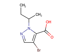 4-bromo-1-sec-butyl-1H-pyrazole-5-carboxylic acid 1006494-01-4 2C40285 MFCD06805243